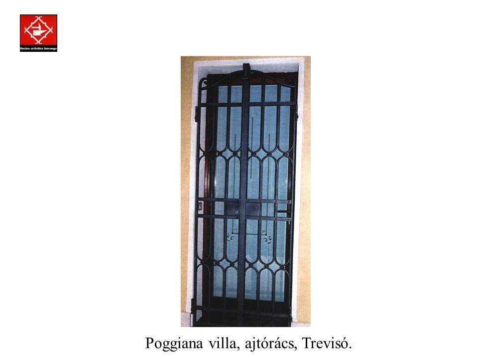 Prodotti assemblati a regola d'arte con la tecnica della chiodatura. Magánvilla, ablakrács, Róma.