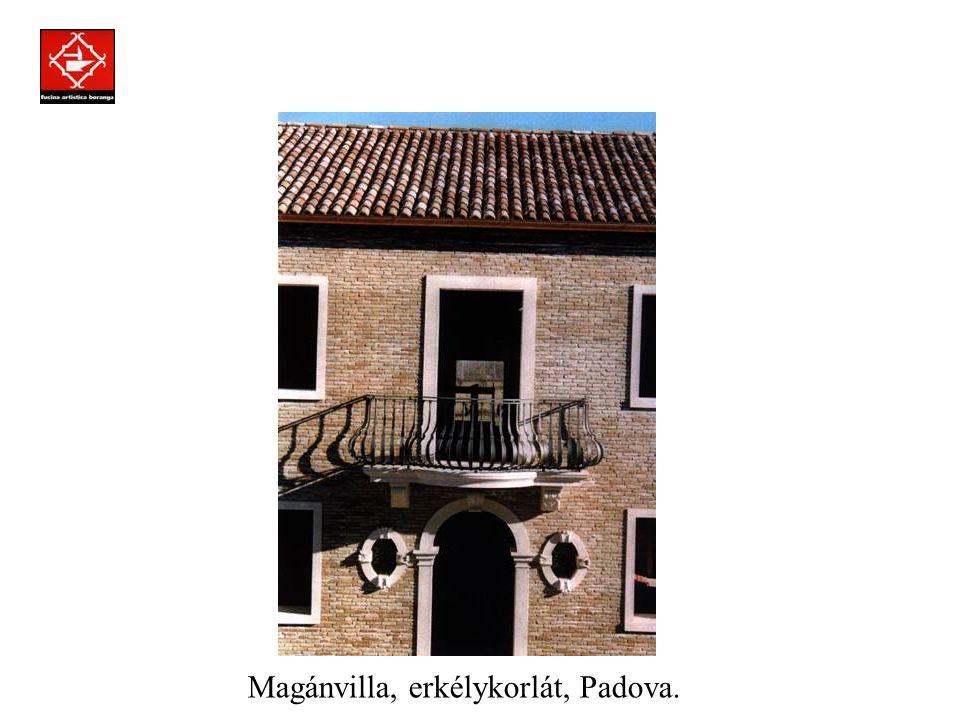 Prodotti assemblati a regola d'arte con la tecnica della chiodatura. Magánvilla, ablakrács, Roma.