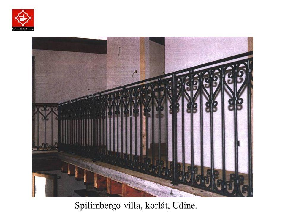 Prodotti assemblati a regola d'arte con la tecnica della chiodatura. Magánvilla, ablakrács, Milanó.