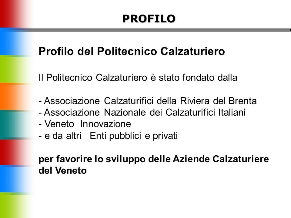 PROFILO Profilo del Politecnico Calzaturiero Il Politecnico Calzaturiero è stato fondato dalla - Associazione Calzaturifici della Riviera del Brenta -