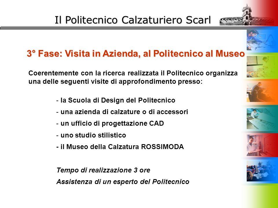 Il Politecnico Calzaturiero Scarl 3° Fase: Visita in Azienda, al Politecnico al Museo Coerentemente con la ricerca realizzata il Politecnico organizza