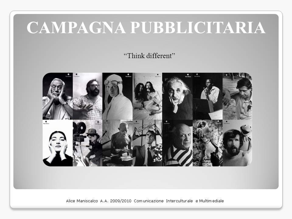 "CAMPAGNA PUBBLICITARIA ""Think different"""