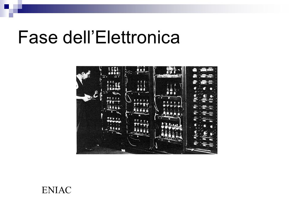 Fase dell'Elettronica ENIAC