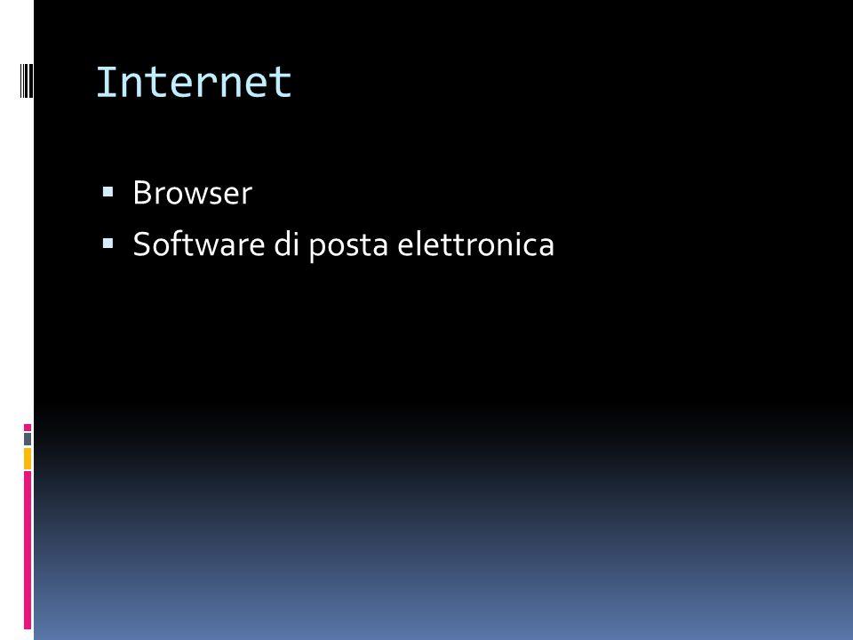 Internet  Browser  Software di posta elettronica