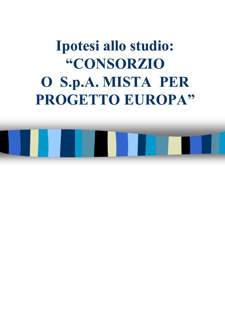 Ipotesi allo studio: CONSORZIO O S.p.A. MISTA PER PROGETTO EUROPA