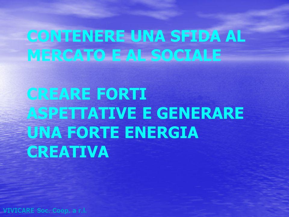 CONTENERE UNA SFIDA AL MERCATO E AL SOCIALE CREARE FORTI ASPETTATIVE E GENERARE UNA FORTE ENERGIA CREATIVA VIVICARE Soc.