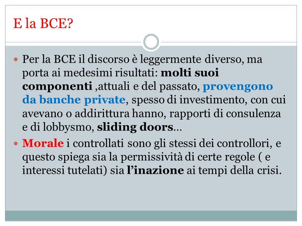 E la BCE.