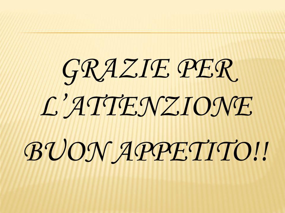 GRAZIE PER L'ATTENZIONE BUON APPETITO!!