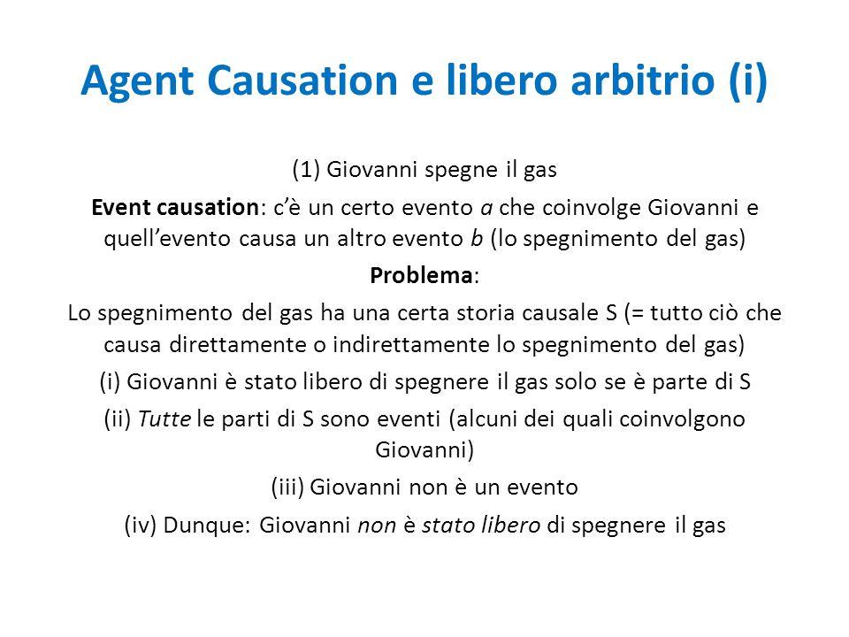 Agent Causation e libero arbitrio (ii) A.C.