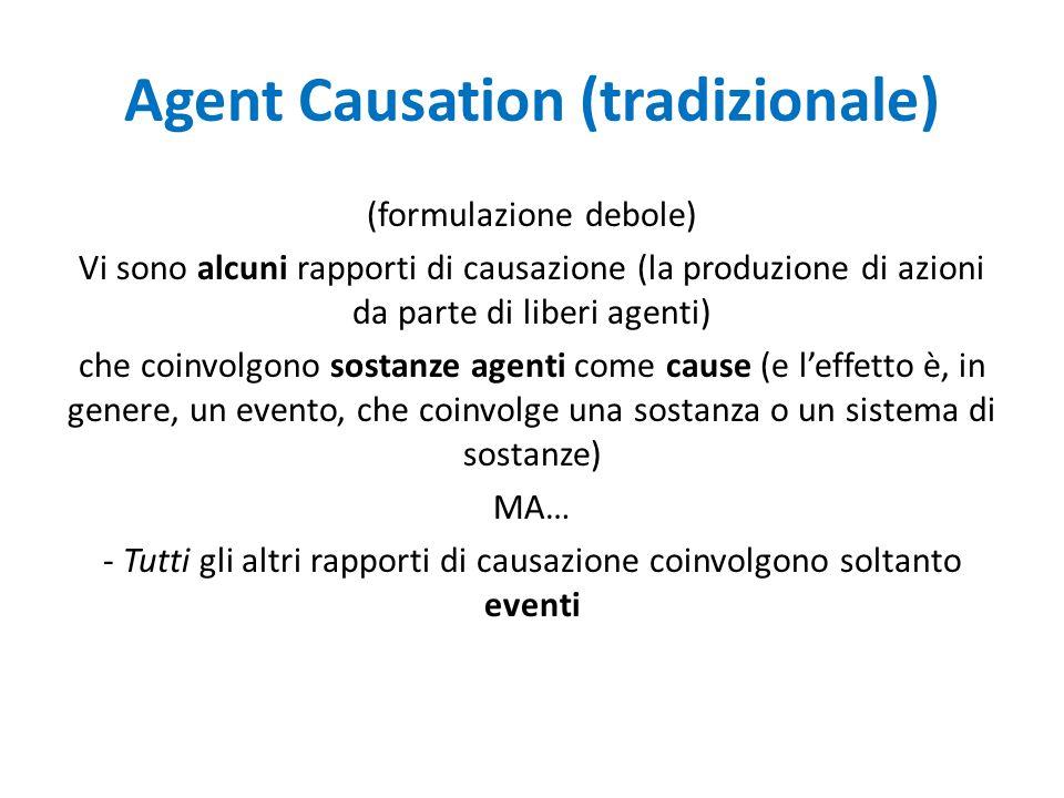 A.C.Vindicated (i) (contra1) Le cause sono soltanto sostanze agenti; gli effetti sono: (mut.