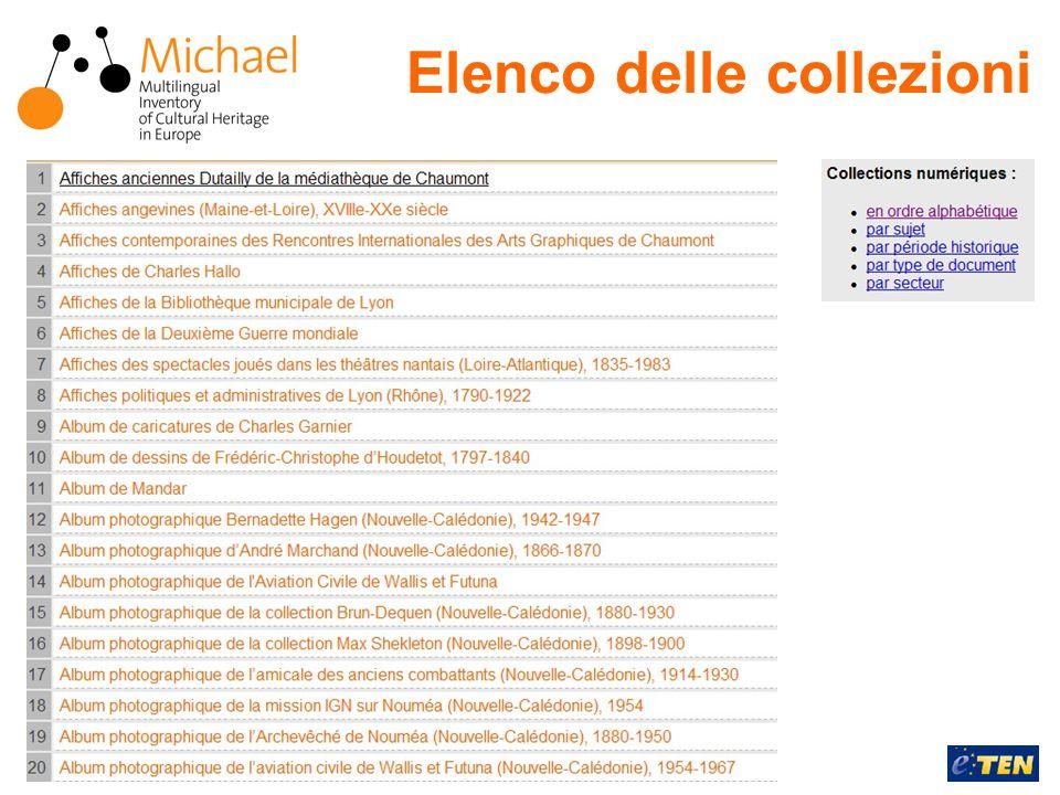 22 Aprile 2005Rossella Caffo Elenco delle collezioni