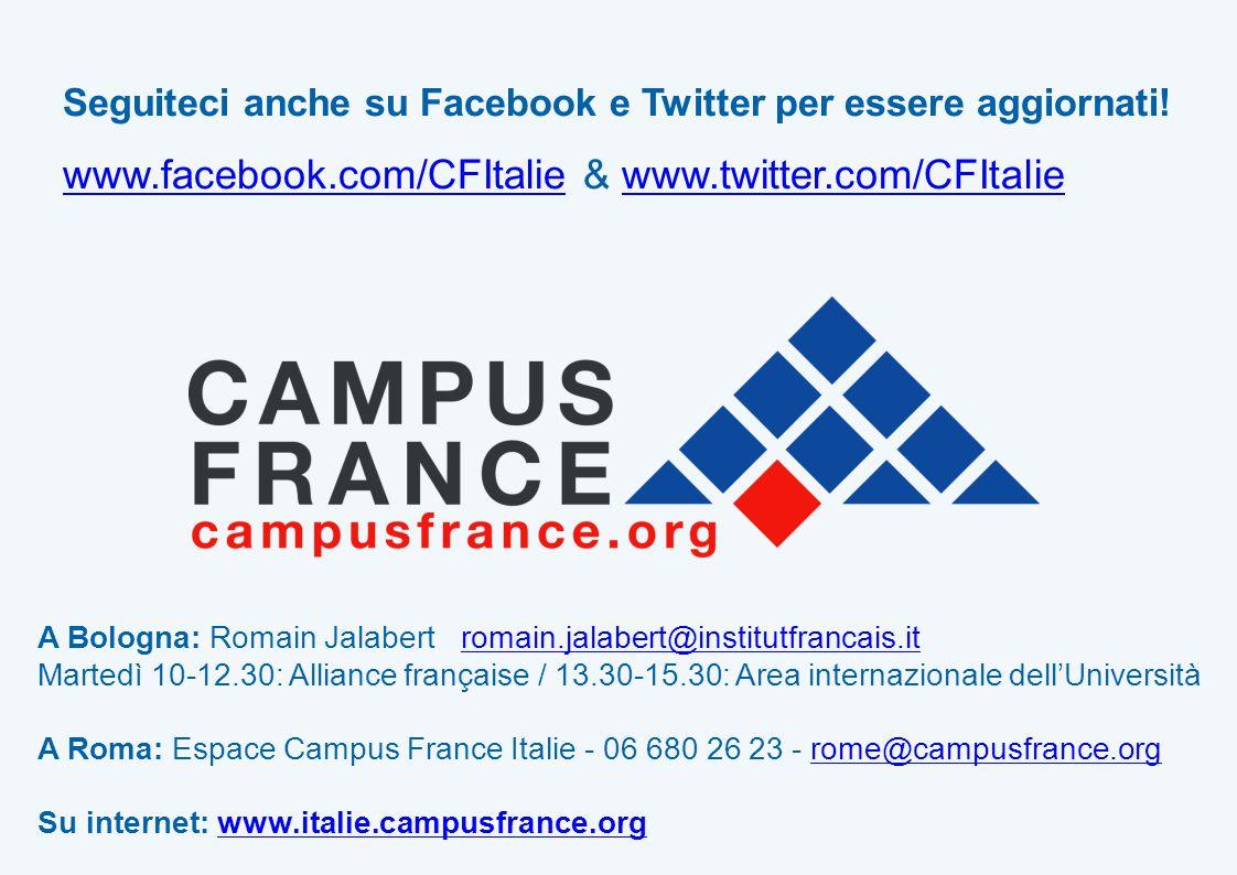 Seguiteci anche su Facebook e Twitter per essere aggiornati.