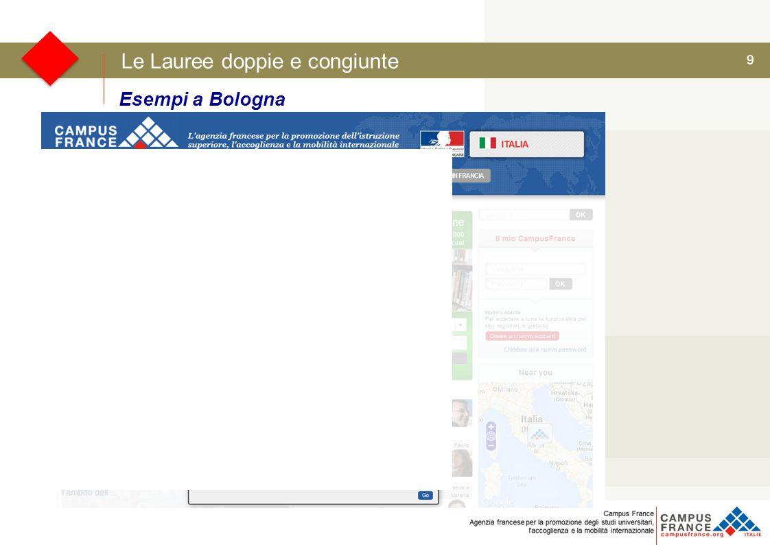 9 Le Lauree doppie e congiunte Esempi a Bologna