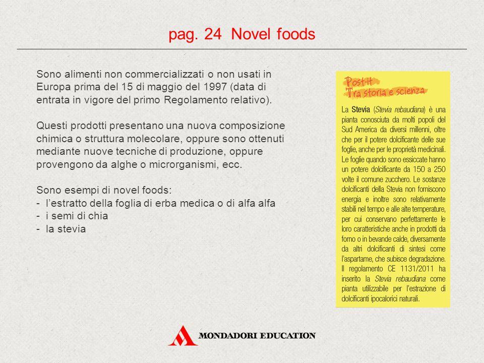Sono alimenti non commercializzati o non usati in Europa prima del 15 di maggio del 1997 (data di entrata in vigore del primo Regolamento relativo). Q