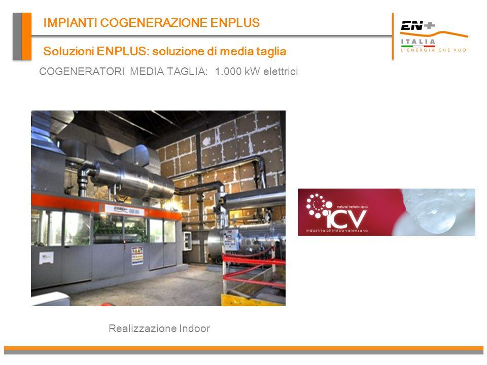 IMPIANTI COGENERAZIONE ENPLUS Realizzazione Outdoor Soluzioni ENPLUS: soluzione di media taglia COGENERATORI MEDIA TAGLIA: 1.000 kW elettrici