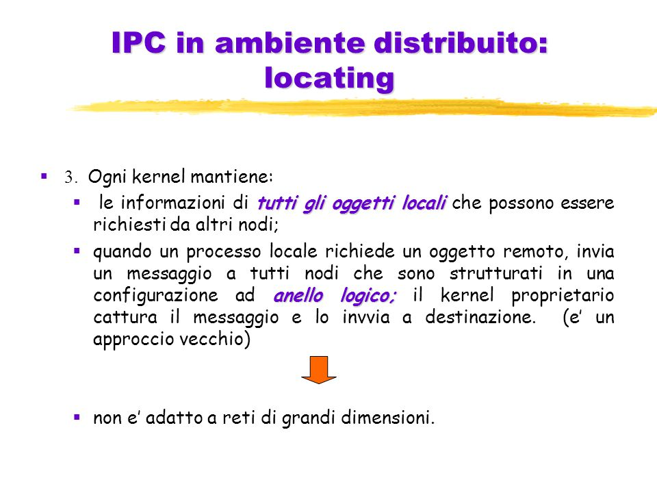 IPC in ambiente distribuito: locating  3.