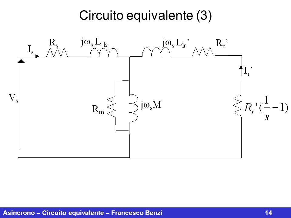 Asincrono – Circuito equivalente – Francesco Benzi14 Circuito equivalente (3)