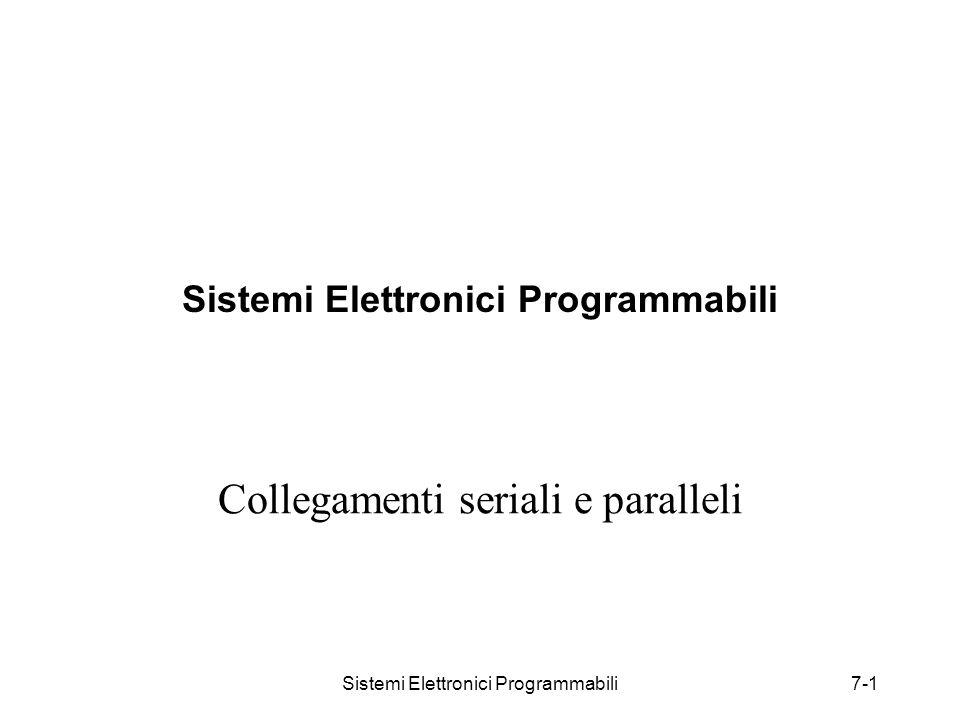 Sistemi Elettronici Programmabili7-1 Sistemi Elettronici Programmabili Collegamenti seriali e paralleli
