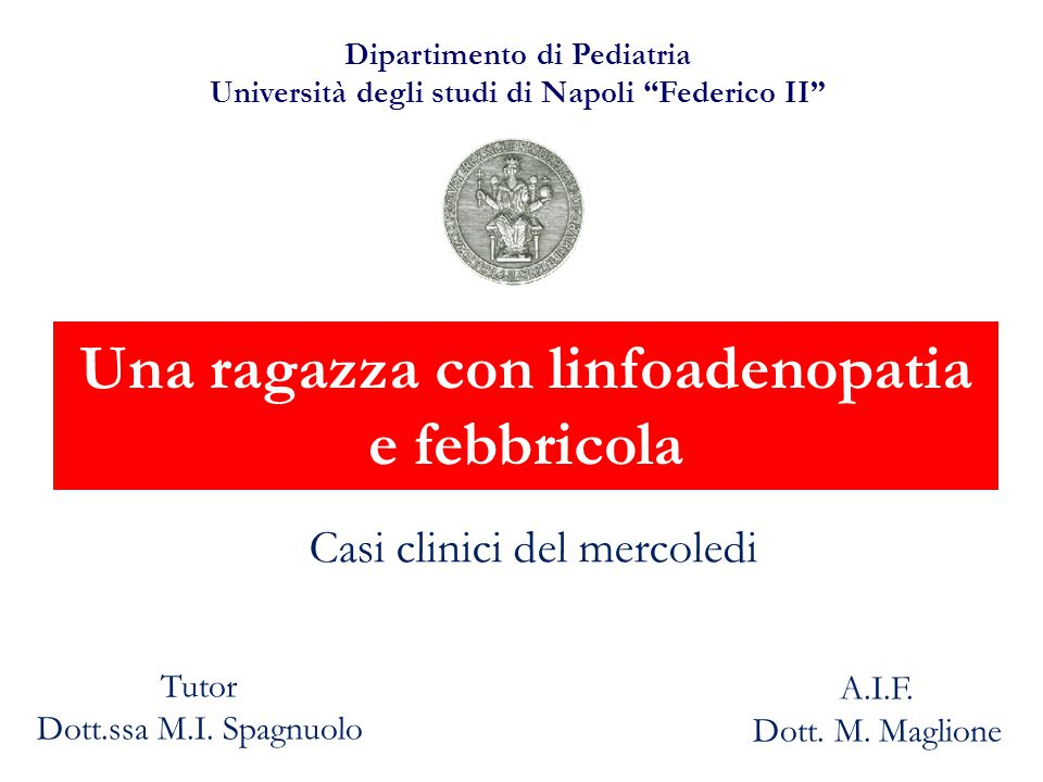 LINFOMA DI HODGKIN Incidenza 2-4/100'000/anno 6% neoplasie infantili, la più comune (15%) tra 15 e 19 aa Rara nei soggetti di età <10 anni EBV (?) 15-45 µm 7 µm Cellula di Reed-Sternberg 1832 LH nodulare - predominanza di linfociti Sclerosi nodulare Cellularità mista Ricco di linfociti Senza linfociti LH classico (95%)
