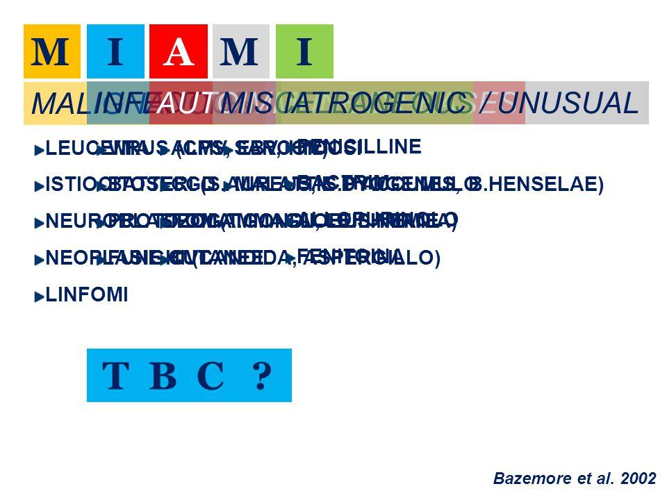MIAMI MALIGNANCIES LEUCEMIA ISTIOCITOSI NEUROBLASTOMA NEOPLASIE CUTANEE LINFOMI INFECTIONS VIRUS (CMV, EBV, HIV) BATTERI (S.AUREUS, S.PYOGENES, B.HENS