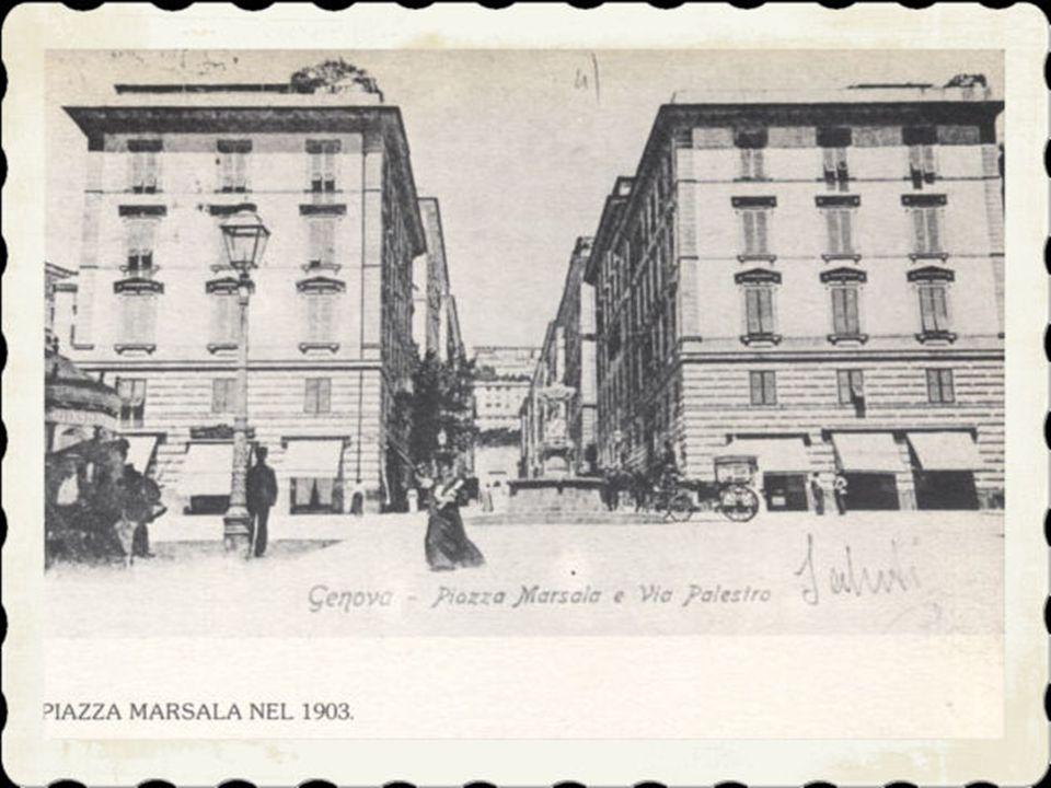 4)Tra il 1890 e l'inizio del nuovo secolo venne perfezionato l'accesso alla piazza dalla parte di via Montaldo «bucando» il terrapieno che faceva part