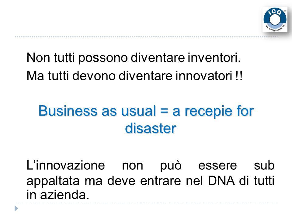 Non tutti possono diventare inventori. Ma tutti devono diventare innovatori !.