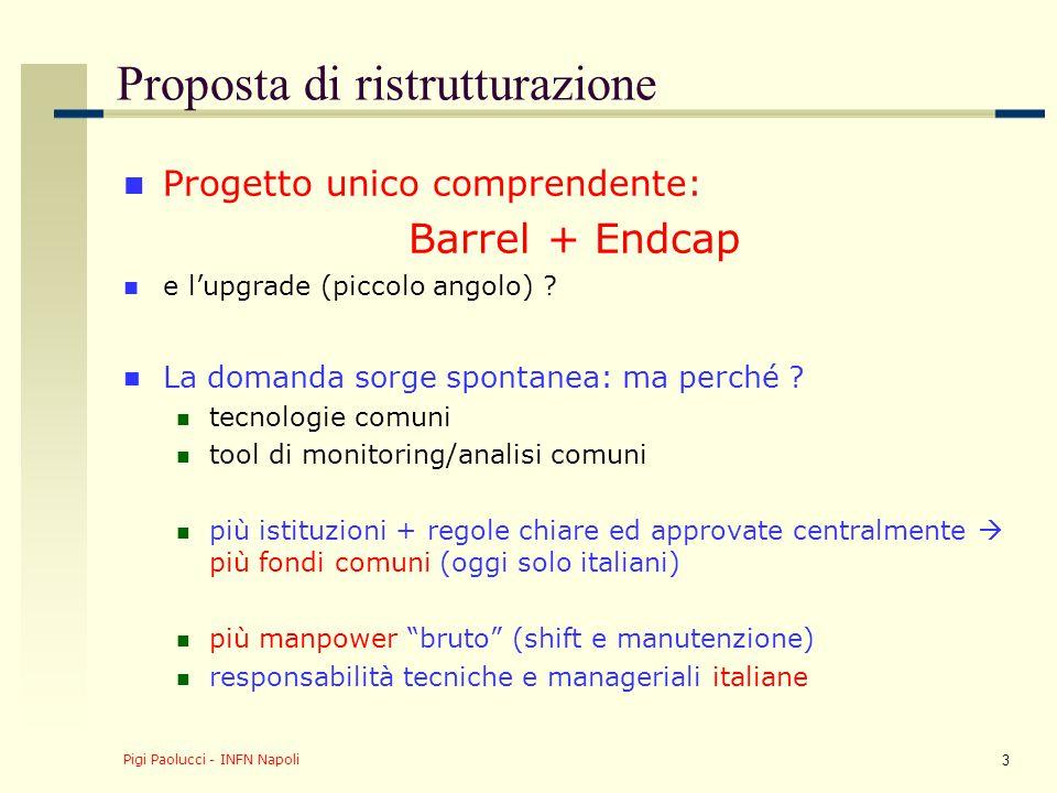 Pigi Paolucci - INFN Napoli 4 Nuovo organigramma 2009/2010 Dopo aver ricevuto l'ok della CSN1 (maggio 2009), questo piano è stato approvato dall'institution board degli RPC in giugno 2009.