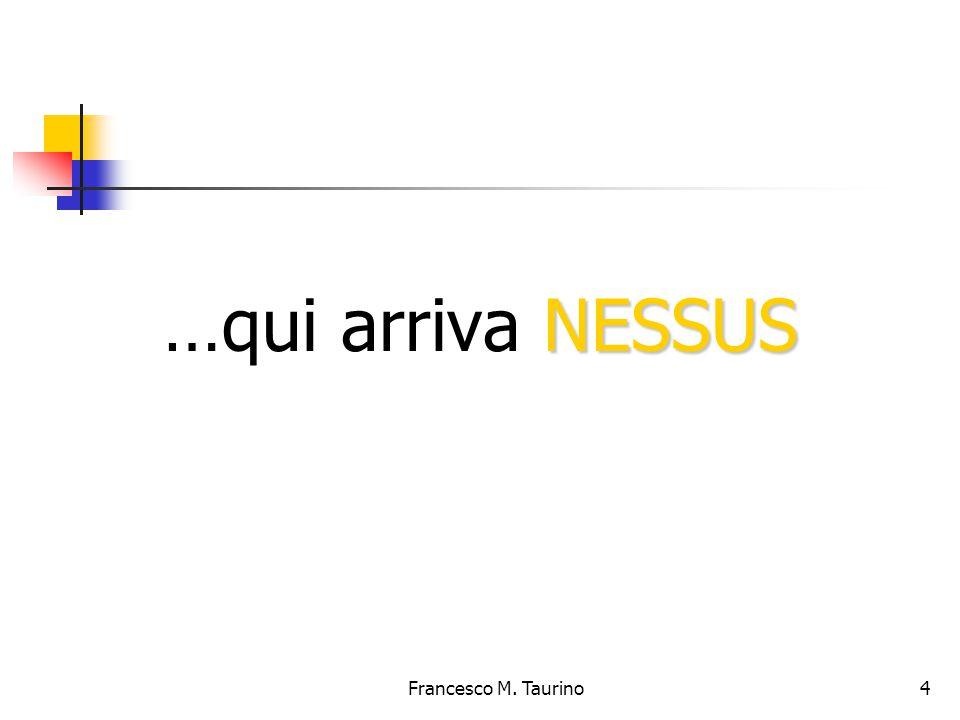Francesco M. Taurino 4 NESSUS …qui arriva NESSUS