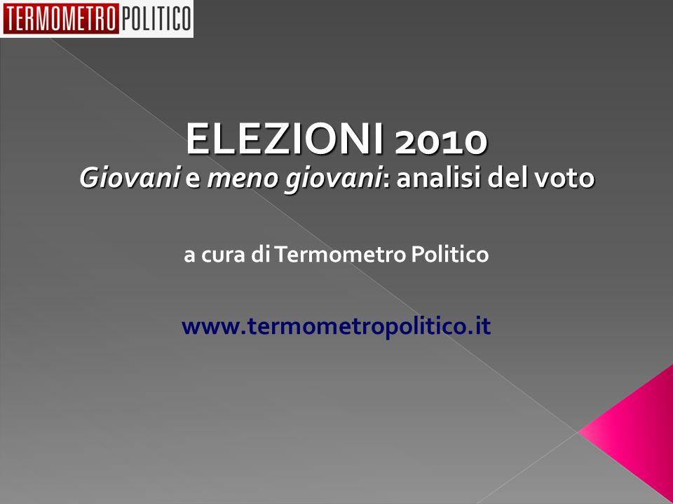 ELEZIONI 2010 Giovani e meno giovani: analisi del voto a cura di Termometro Politico www.termometropolitico.it