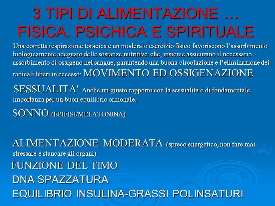 3 TIPI DI ALIMENTAZIONE … FISICA.