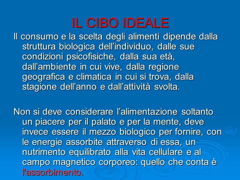 IL CIBO IDEALE: 5.