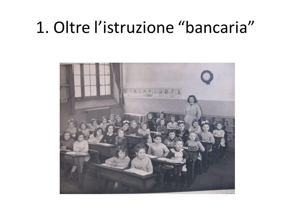 """Schema L'""""istruzione bancaria"""" e i suoi limiti Corpo, immagine e apprendimento: i presupposti neuroscientifici I mediatori didattici: per una nuova te"""