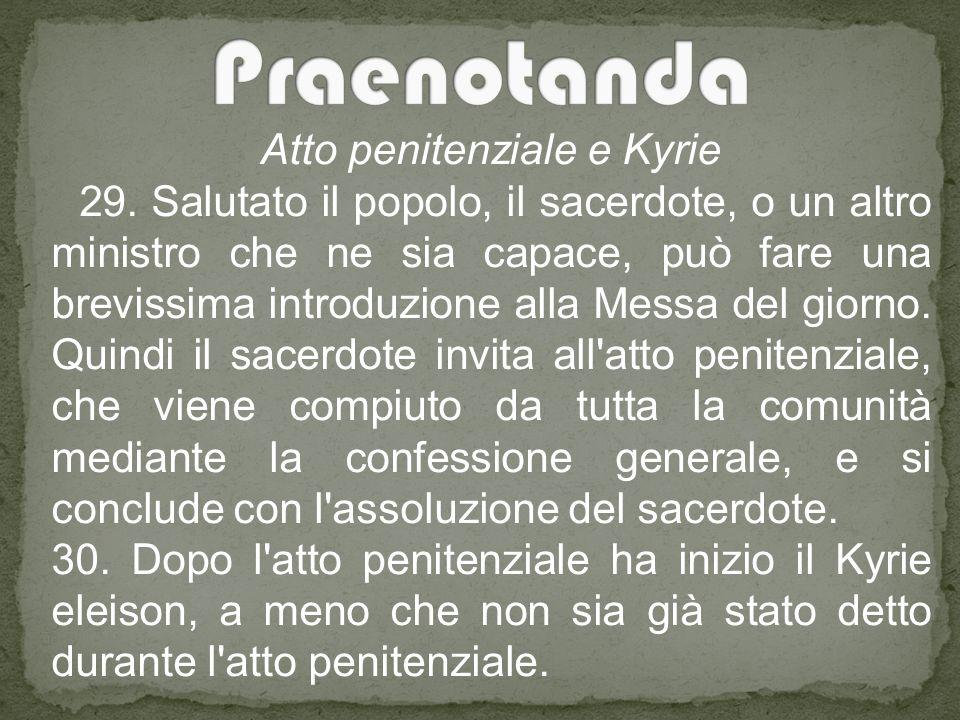 Atto penitenziale e Kyrie 29.