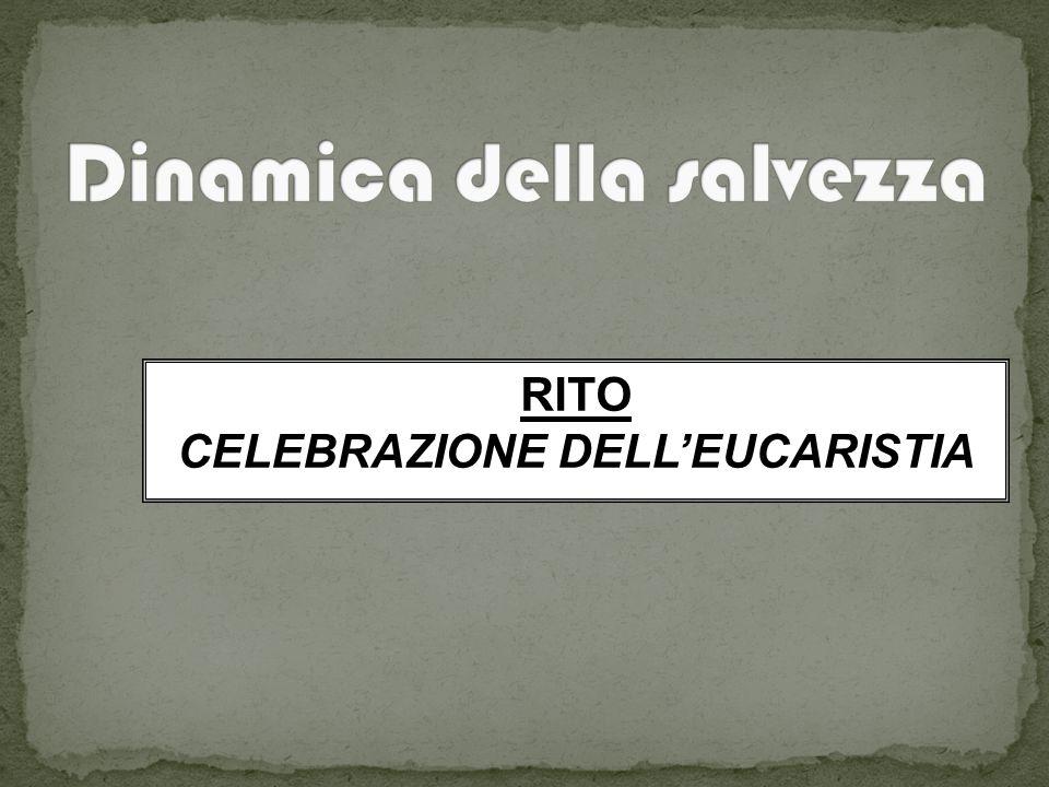 RITO CELEBRAZIONE DELL'EUCARISTIA