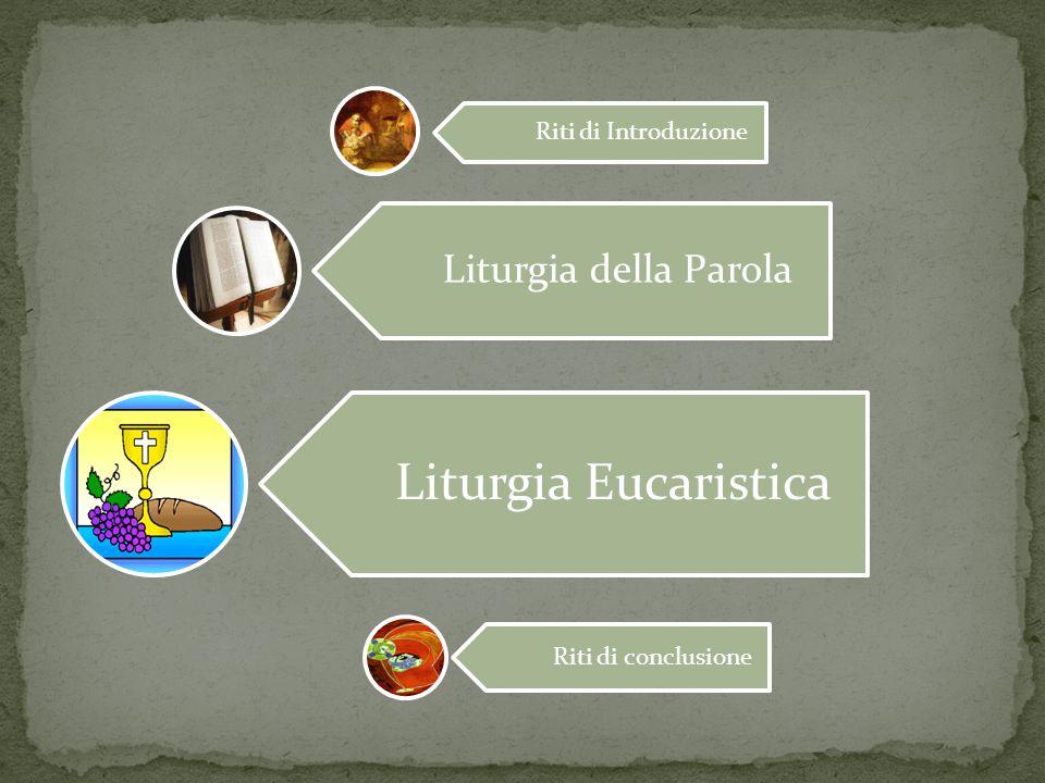 Riti di Introduzione Liturgia della Parola Liturgia Eucaristica Riti di conclusione