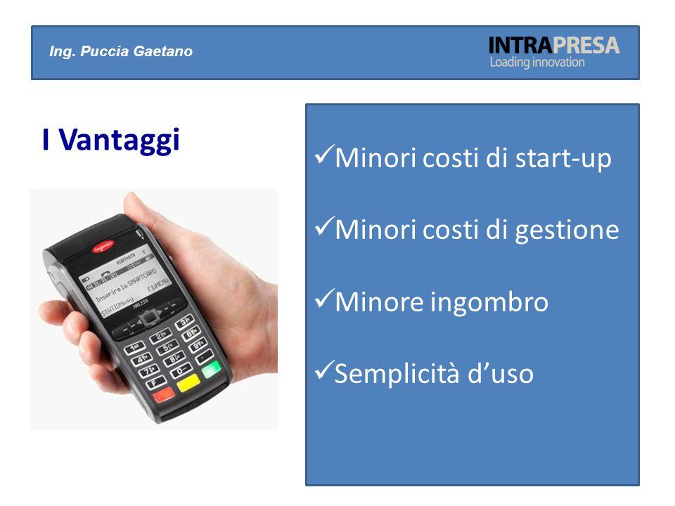 Ing. Puccia Gaetano I Vantaggi Minori costi di start-up Minori costi di gestione Minore ingombro Semplicità d'uso