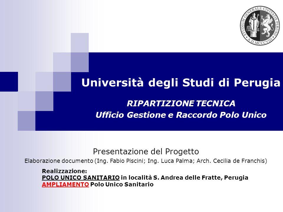 Università degli Studi di Perugia Realizzazione: POLO UNICO SANITARIO in località S.