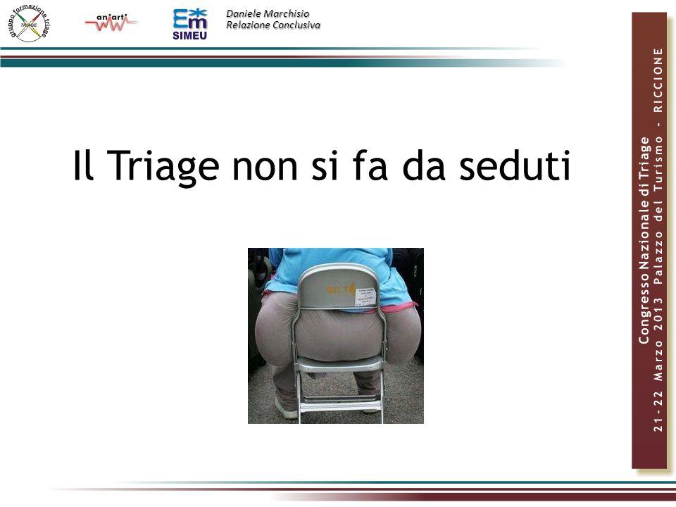 Daniele Marchisio Relazione Conclusiva Il Triage non si fa da seduti