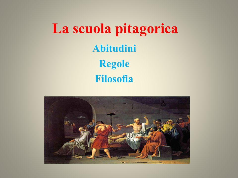 La scuola pitagorica La scuola pitagorica fu fondata da Pitagora a Crotone intorno al 530 a.C.