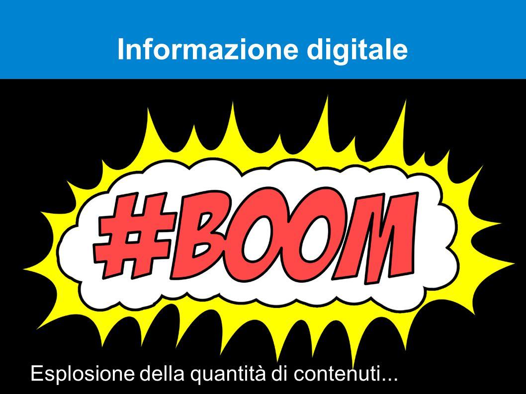 Informazione digitale Esplosione della quantità di contenuti...