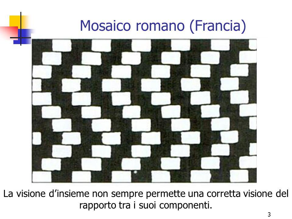 3 Mosaico romano (Francia) La visione d'insieme non sempre permette una corretta visione del rapporto tra i suoi componenti.