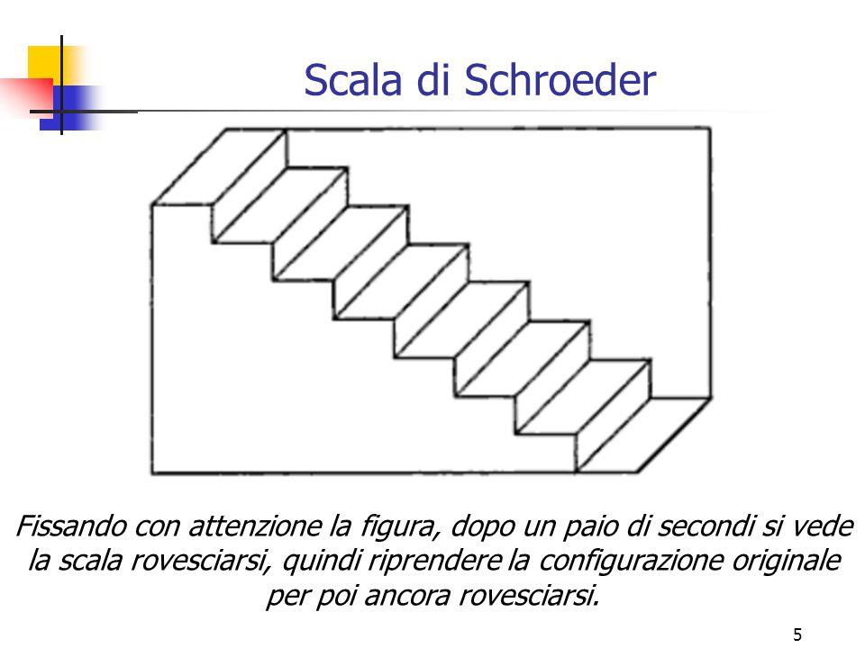 5 Scala di Schroeder Fissando con attenzione la figura, dopo un paio di secondi si vede la scala rovesciarsi, quindi riprendere la configurazione orig