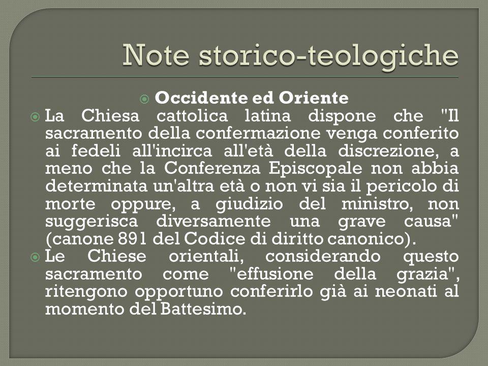  Occidente ed Oriente  La Chiesa cattolica latina dispone che