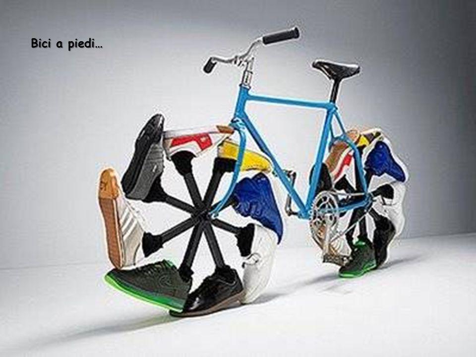 Bicicletta con ruote di scarpe !!!!!