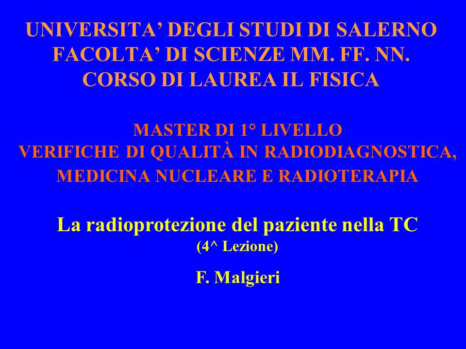 Aumento della dose/esame nella MSCT rispetto alla SSCT elicoidale (2)