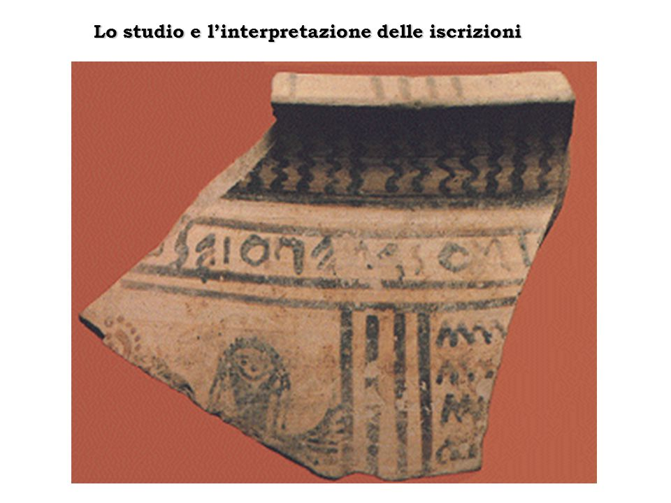 Lo studio e l'interpretazione delle iscrizioni