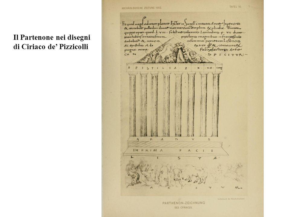 Il Partenone nei disegni di Ciriaco de' Pizzicolli