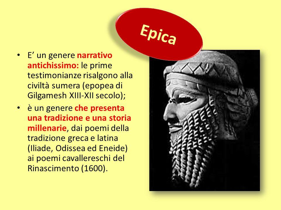 E' un genere narrativo antichissimo: le prime testimonianze risalgono alla civiltà sumera (epopea di Gilgamesh XIII-XII secolo); è un genere che prese