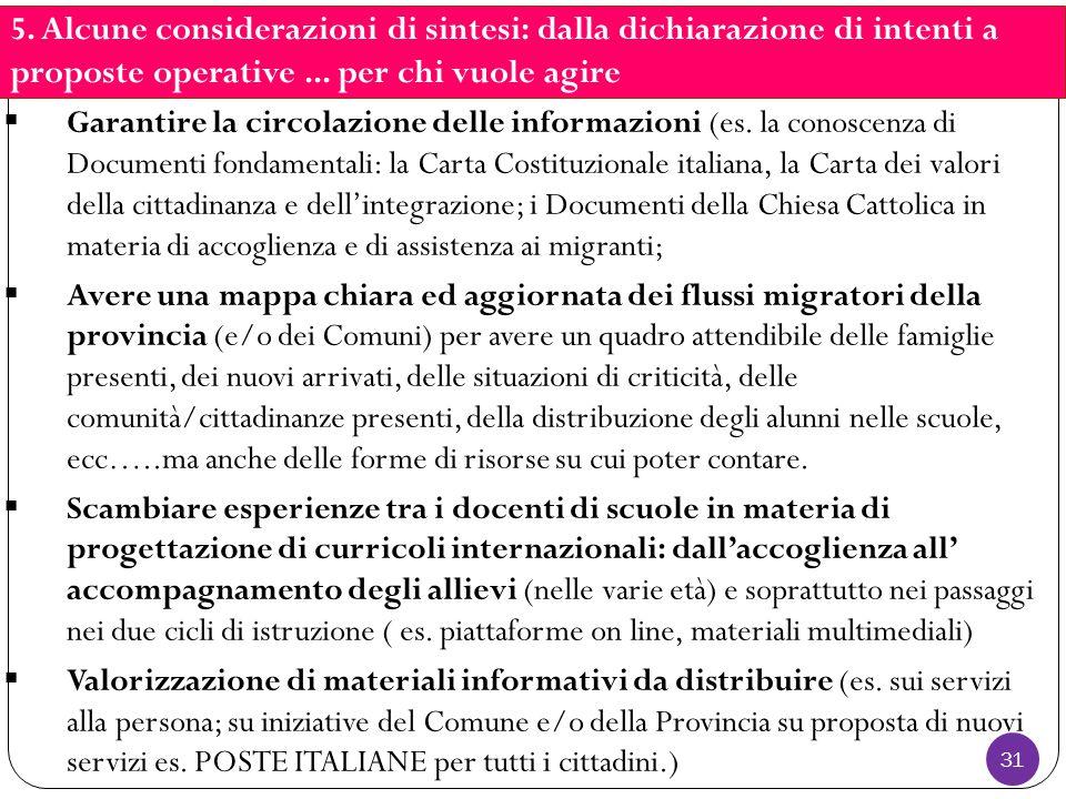 31  Garantire la circolazione delle informazioni (es.