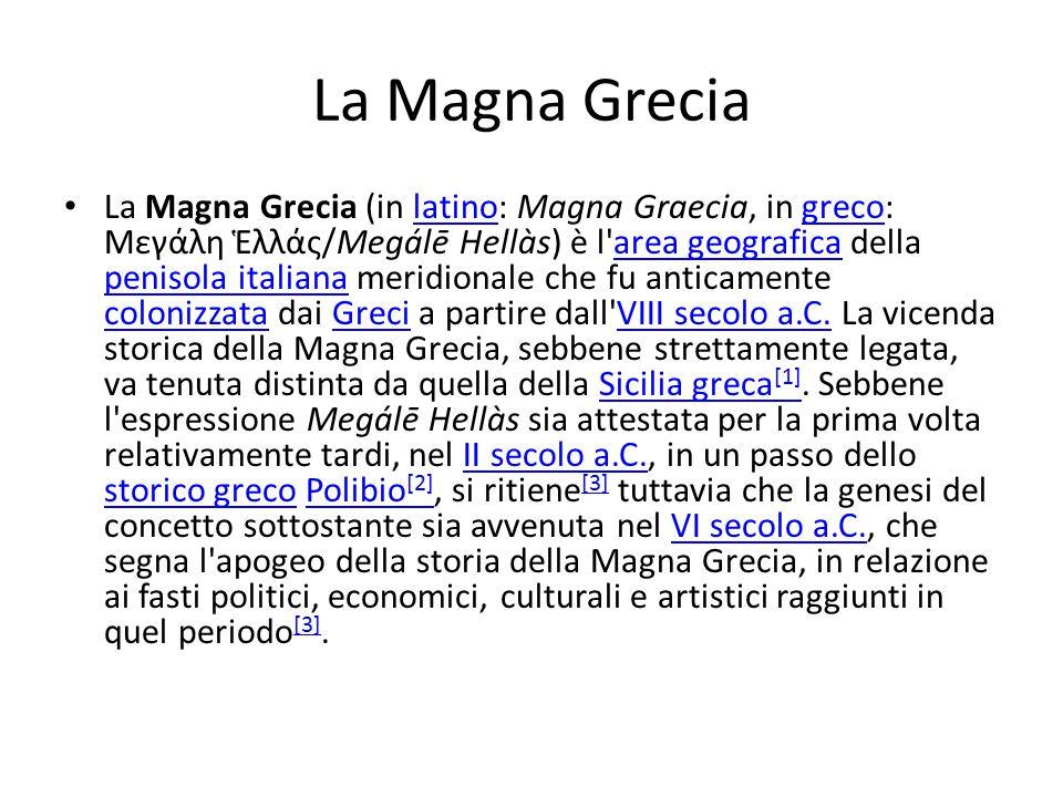 La Magna Grecia PitagoraAlcmeoneMilone Magna Grecia